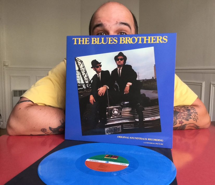 Benoit et son disque des Blues Brothers